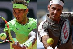 Rafa Nadal y Roger Federer.