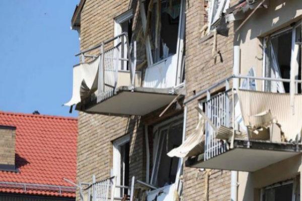 Estado en le que han quedado las casas donde se ha producido la explosión.