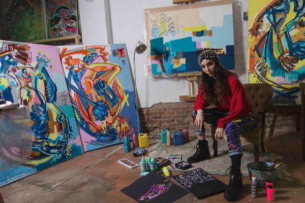 Lara Padilla en su estudio