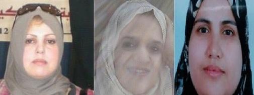 Atiqa Bouhouria (esposa de un espía marroquí), Naziha El Montaser (esposa del secretario general del Consejo de la Comunidad Marroquí en el Extranjero) y Naima Lamalmi (esposa del jefe de los servicios secretos exteriores de Rabat).