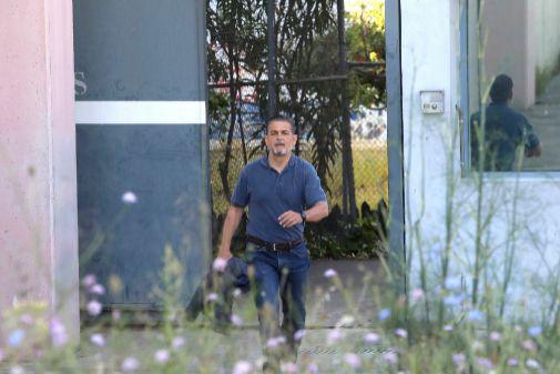 Oriol Pujol (52 años), a su salida de la cárcel de Brians 1, este lunes.