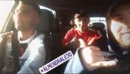 Los primos dentro del coche que se estrellaría. De izquierda a derecha, José Antonio Reyes (35 años), Jonathan 'Joni' Reyes (23) y Juan Manuel Calderon (22). Siempre optimistas.