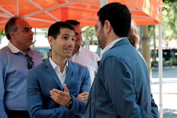 Martín Blanco este sábado con miembros de Ciudadanos