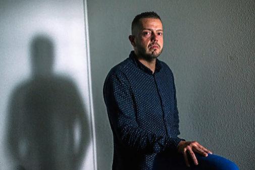 Juan José Torrente, sargento de los Mossos, en la sede de CSIF