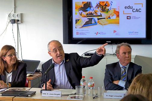 El 'conseller' de Educación, Josep Bargalló, en la presentación del programa educativo