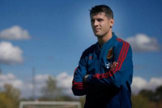 El delantero de la selección española Álvaro Morata