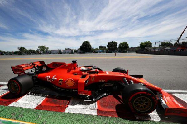 Vettel, durante la clasificación del sábado en Montreal.