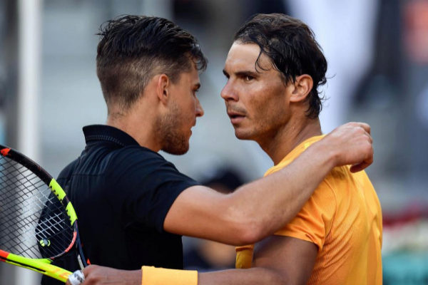 Nadal y Thiem en el Mutua Madrid Open 2018