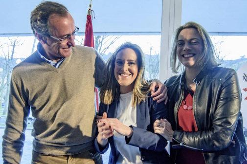 Alfonso Alonso y Amaya Fernández, en un acto del PP vasco