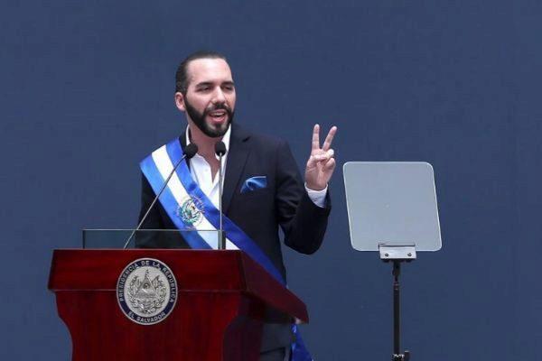 AME9102. SAN SALVADOR (EL SALVADOR).- Nayib Bukele ofrece su primer...