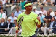 Rafa Nadal, tras proclamarse campeón de Roland Garros por duodécima ocasión.
