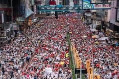 Más de un millón de manifestantes contra la ley de extradición