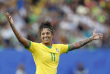 Grenoble (France).- Cristiane Rozeira De Souza Silva of Brazil celebrates a goal during the preliminary round match between Brazil and <HIT>Jamaica</HIT> at the FIFA Women's World Cup 2019 in Grenoble, France, 09 June 2019. (Mundial de Fútbol, <HIT>Brasil</HIT>, Francia) EPA/