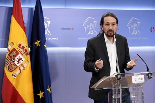 Pablo Iglesias comparece ante los medios el pasado 6 de junio, tras entrevistarse con el Rey en Zarzuela.