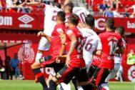 Un instante delMallorca-Albacete de esta temporada.