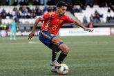 Jesús Navas en uno de los partidos de España para la clasificación...
