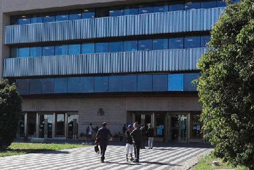 Acceso principal a la Ciudad de la Justicia de Castellón.