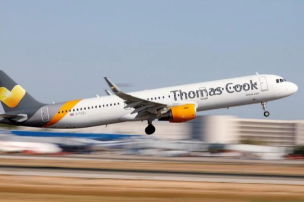 Un avión de Thomas Cook.