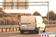 Imagen del vehículo del conductor francés cazado al doble de velocidad