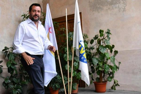 El líder de la Liga y vicepresidente del Gobierno italiano, Matteo Salvini,