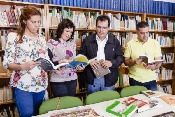 Responsables y técnicos de los servicios culturales de la Diputación de Almería.