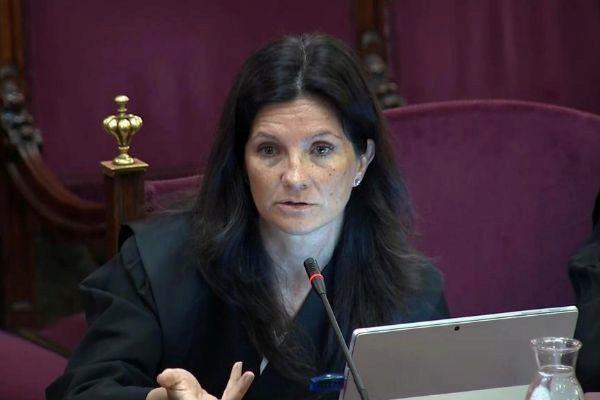 Rosa María Seoane, abogada del Estado en el juicio del 1-O.