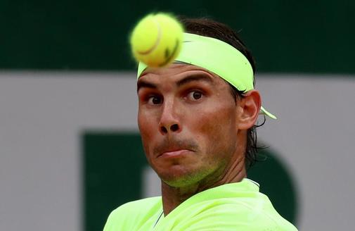 Nadal, durante la final de Roland Garros contra Thiem.