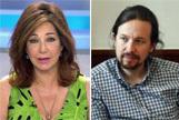 """La 'guerra' de Ana Rosa Quintana contra Pablo Iglesias: """"Que nos deje en paz ya"""""""