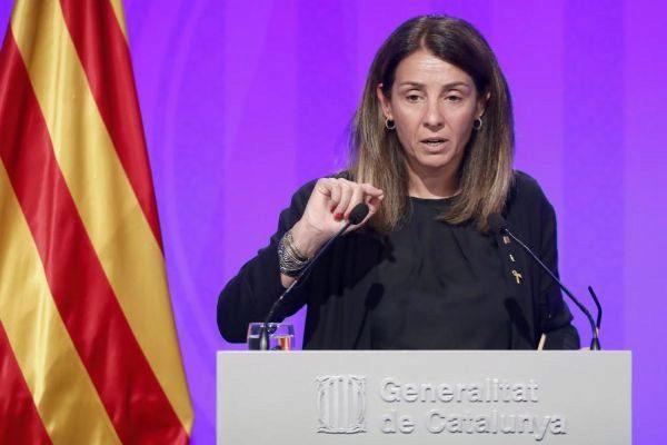 GRAFCAT430. BARCELONA.-La consellera de la presidencia y portavoz del...
