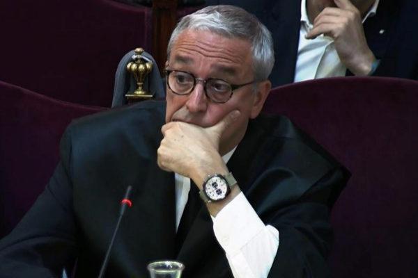 Xavier Melero, abogado de Joaquim Forn, durante una sesión del juicio.
