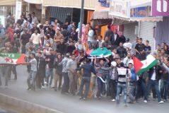 Manifestación saharaui en El Aaiún.
