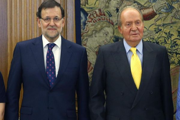 El Rey Juan Carlos y Mariano Rajoy