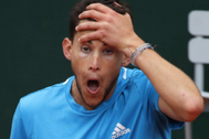 Thiem, durante la final de Roland Garros.