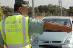 La Guardia Civil detuvo en un control de tráfico al ladrón que viajaba en el vehículo.
