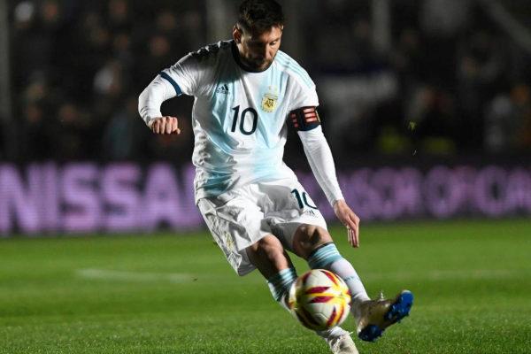 Leo Messi, con la selección argentina.