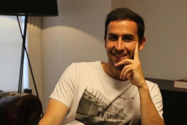 Íñigo López, durante la entrevista.