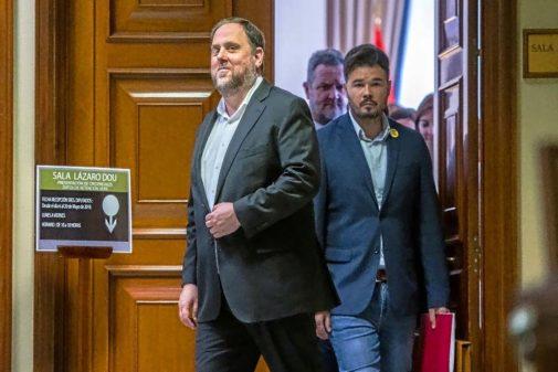 Oriol Junqueras, en la recogida de su acta en el Congreso