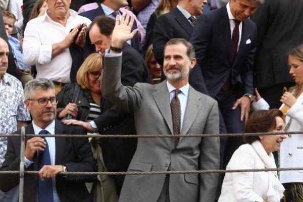 Su Majestad El Rey Felipe VI, en la Corrida de la Prensa del pasado año en Madrid.