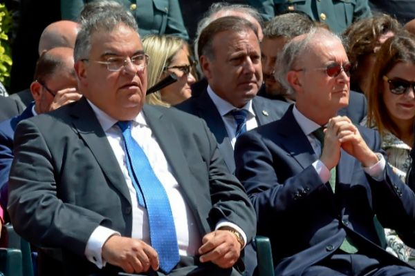 El fiscal jefe Barceló (izquierda) junto al presidente del TSJB, Terrasa.