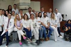 Parte del equipo sanitario de Oncología Provincial de Castellón.