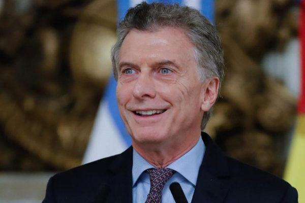 El presidente de Argentina, Mauricio Macri, en la Casa Rosada de Buenos Aires.