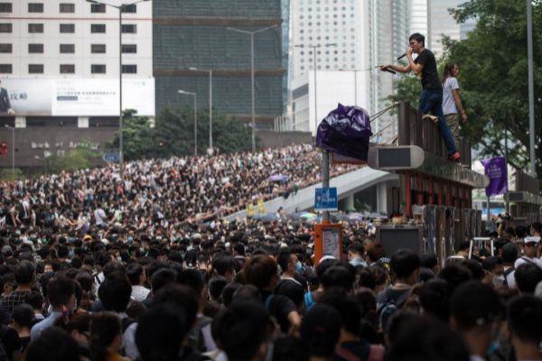 Imagen de la manifestación organizada el pasado día 12 en Hong Kong.