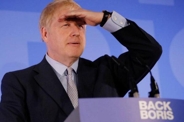 """El ex secretario de Exteriores Boris Johnsn durante el lanzamiento de su campaña """"Back Boris"""" (Apoyad a Boris)."""