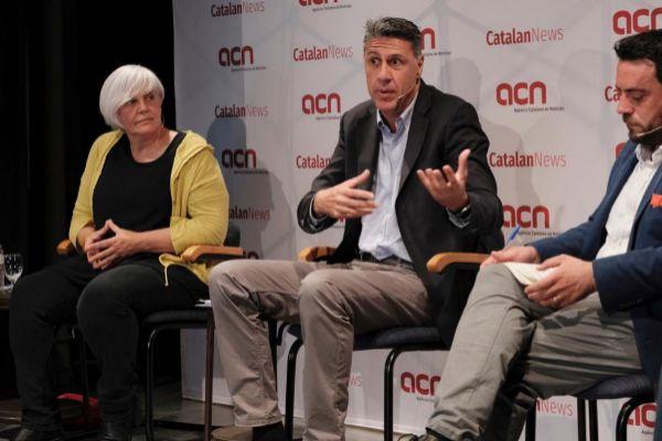 Jordi Soteras Catalunya Barcelona 14/05/2019 Debate de los candidatos alcaldables de Badalona en la foto Dolors Sabater. <HIT>Albiol</HIT> y Alex Pastor Foto Jordi Soteras