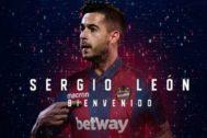 Montaje de bienvenida al jugador que ha hecho el Levante UD.