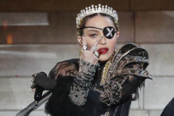Madonna, durante su actuación en el Festival de Eurovisión, el pasado 18 de mayo.