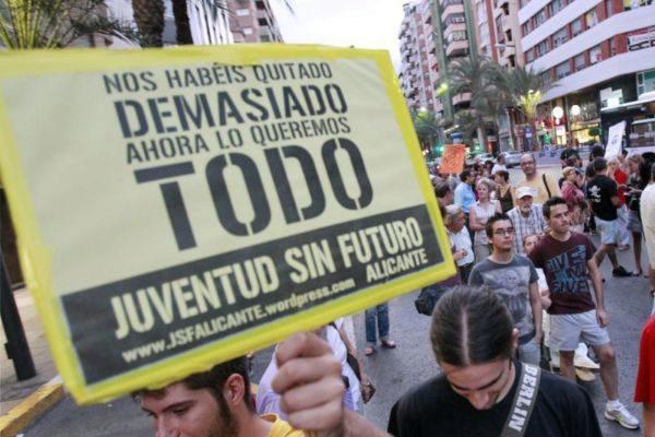Manifestación por el derecho a la vivienda en Alicante