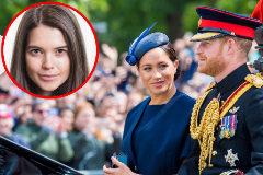 Meghan Markle mira de reojo al príncipe Enrique