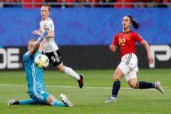 Cruel derrota de España ante Alemania
