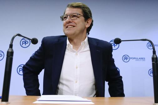 Alfonso Fernández Mañueco, en rueda de prensa